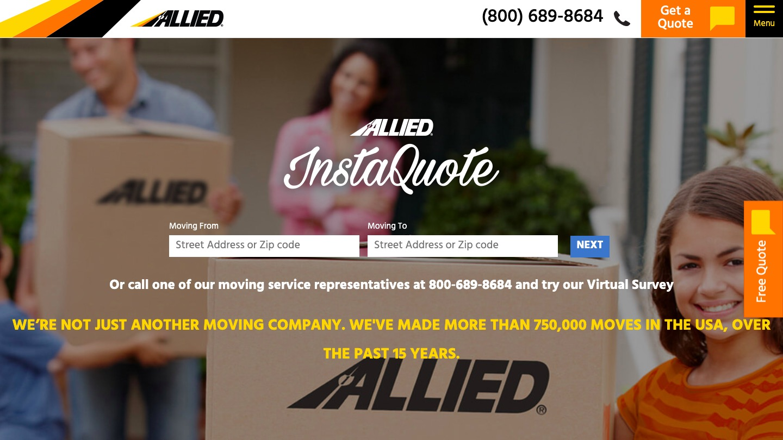 Allied Van Lines main page