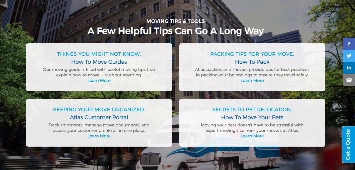 Atlas Van Lines helpful tips