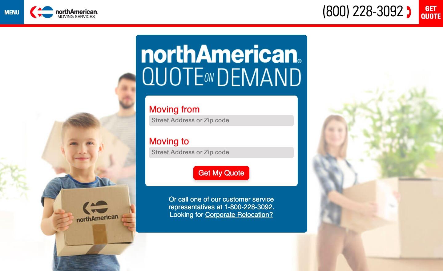 north american van lines main page