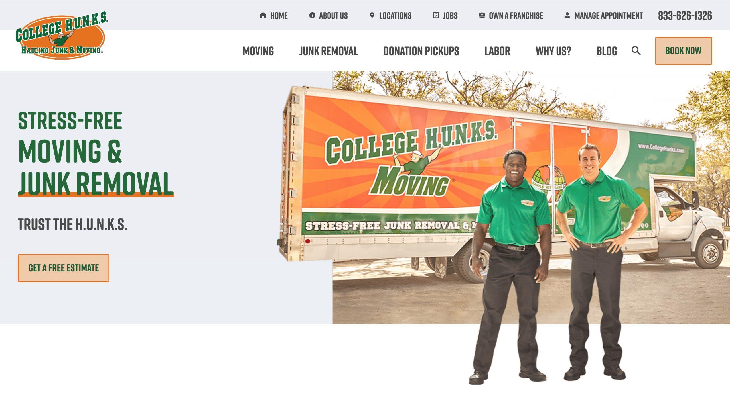 College Hunks main page