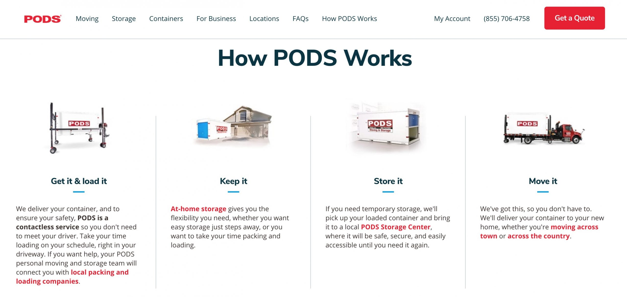 pods moving how works