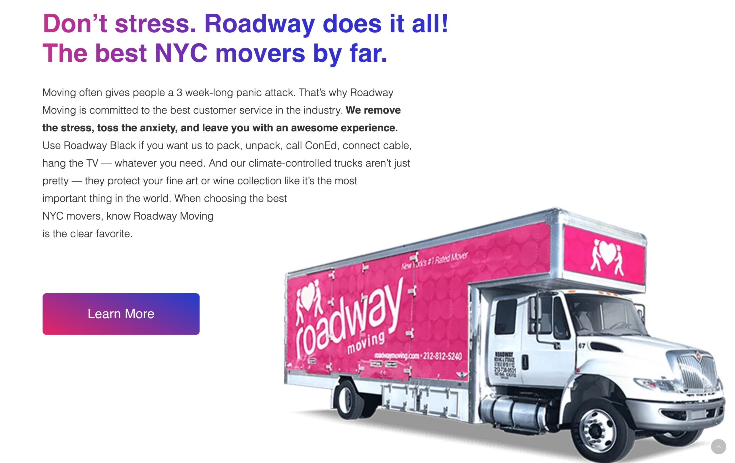 roadway moving dont stress