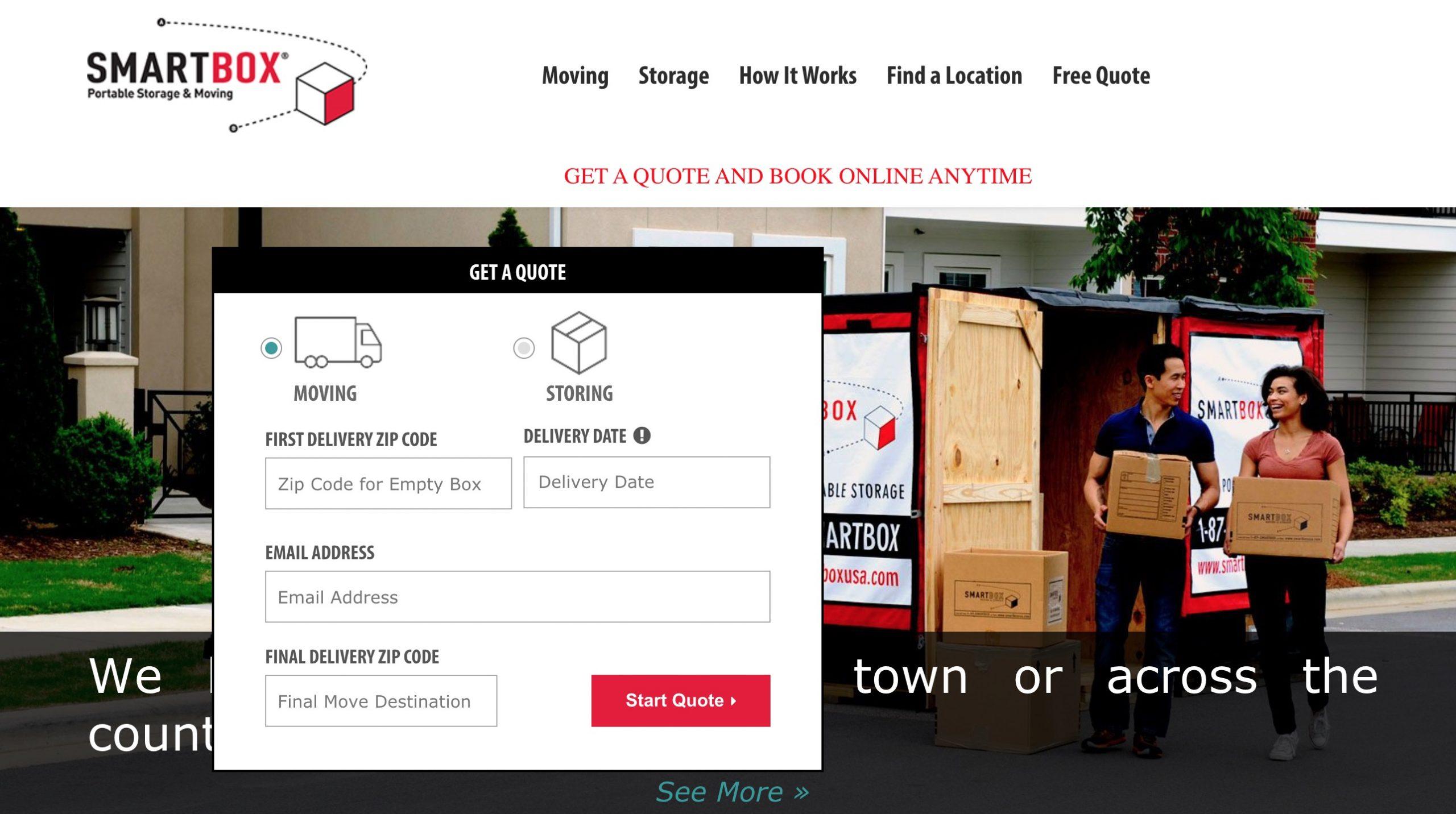 smartbox moving main page
